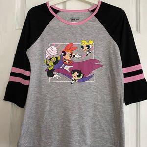 Hot Topic PowerPuff Girls 3/4 Sleeve T-shirt